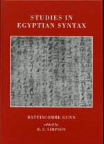 Studies in Egyptian Syntax