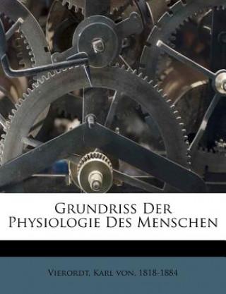 Grundriss Der Physiologie Des Menschen