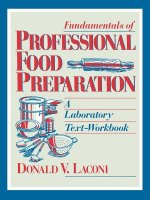 Fundamentals of Professional Food Preparation