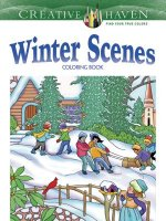 Creative Haven Winter Scenes Coloring Book