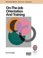 On-the-Job Orientation and Training