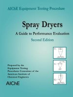 AIChE Equipment Testing Procedure - Spray Dryers