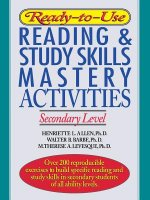 Ready-to-Use Reading and Study Skills Mastery Activities