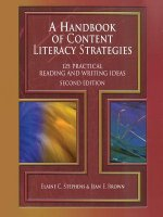 Handbook of Content Literacy Strategies