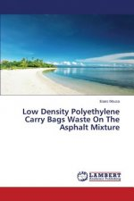 Low Density Polyethylene Carry Bags Waste On The Asphalt Mixture