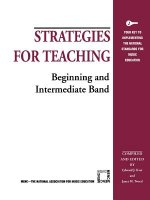 Strategies for Teaching Beginning and Intermediate Band