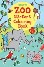 Zoo Sticker and Colouring Book