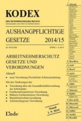 KODEX Aushangpflichtige Gesetze 2014/2015