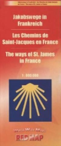Jakobswege in Frankreich, Karte
