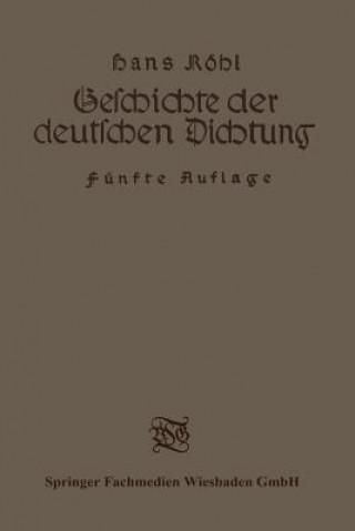 Geschichte Der Deutschen Dichtung