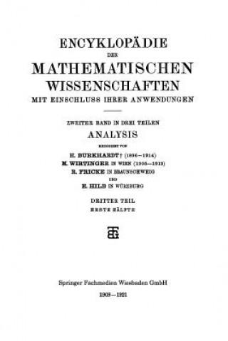 Encyklopadie Der Mathematischen Wissenschaften Mit Einschluss Ihrer Anwendungen