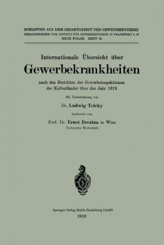 Internationale UEbersicht UEber Gewerbekrankheiten Nach Den Berichten Der Gewerbeinspektionen Der Kulturlander UEber Das Jahr 1919
