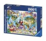 Disney's Weltkarte (Kinderpuzzle)