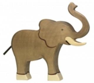 Elefant, Rüssel hoch