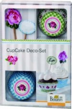 CupCake Deco-Set, Rose, 36-teilig