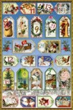 24 Adventskalender-Zahlen-Sticker