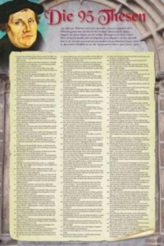 Die 95 Thesen nach Martin Luther, Plakat