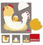 Goula 3 Stufen Huhn (Kinderpuzzle)
