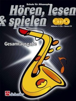 Hören, lesen & spielen, Schule für Altsaxophon, Gesamtausgabe 4 Audio-CDs