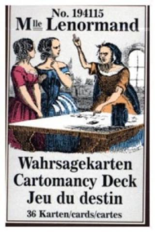 Mademoiselle Lenormand Wahrsagekarten, Orakelkarten. Cartomancy Deck, Jeu du destin