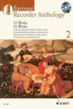 Baroque Recorder Anthology, für Sopranblockflöte und Klavier (Gitarre ad lib.), mit mp3-CD