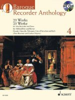 Baroque Recorder Anthology, für Alt-Blockflöte und Klavier, m. Audio-CD. Vol.4