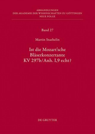 Ist die Mozartsche Bläserkonzertente KV 297b/Anh.I,9 echt?