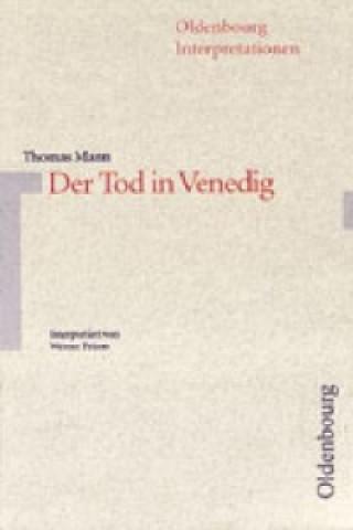 Thomas Mann Der Tod in Venedig