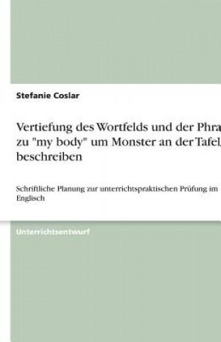 Vertiefung des Wortfelds und der Phrasen zu my body um Monster an der Tafel zu beschreiben