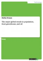 The major global trends in population, food, greenhouse, and oil