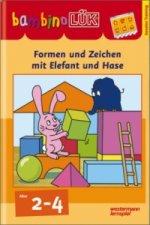 Formen und Zeichen mit Elefant und Hase, basales Training