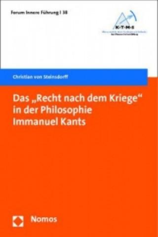 Das Recht nach dem Kriege in der Philosophie Immanuel Kants