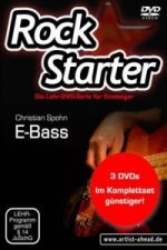 Rockstarter, E-Bass, 3 DVDs. Vol.1-3