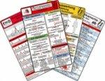 Rettungsdienst Karten-Set - Reanimation, Herzrhythmusstörungen, EKG Auswertung - Anleitung, Notfallmedikamente, 6 Medizinische Taschen-Karten