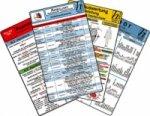Ambulanz Karten-Set - Reanimation, EKG Auswertung - Anleitung, Notfallmedikamente Set, Laborwerte, 6 Medizinische Taschen-Karten