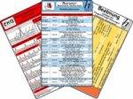 Notarzt Karten-Set - Notfallmedikamente Set,  Herzrhythmusstörungen, Beatmung - Leitfaden für Oxygenierungs-Störungen, EKG Auswertung / Skalen, 6 Medi