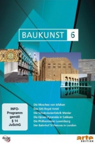 Die königliche Moschee von Isfahan, Das SAS Royal Hotel in Kopenhagen, Die Schokoladenfabrik Menier, Die Djoser-Pyramide in Sakara, Die Philharmonie L
