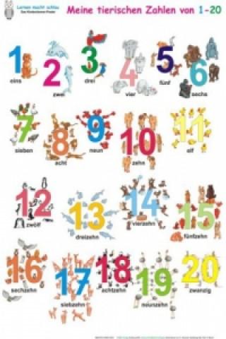 Meine tierischen Zahlen von 1-20, Poster