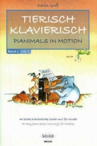 Tierisch Klavierisch, für Klavier, m. Audio-CD. Bd.1