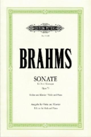 Sonate für Violine u. Klavier G-Dur op.78, Fassung f. Viola u. Klavier, Klavierpartitur u. 2 Einzelstimmen