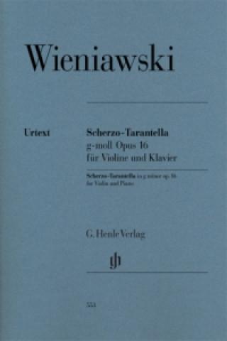 Scherzo-Tarantella g-moll op.16 für Violine und Klavier, Partitur u. 2 Violinstimmen