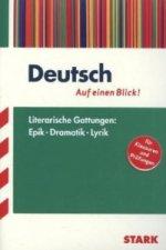 Deutsch - Auf einen Blick! Literarische Gattungen: Epik, Dramatik und Lyrik