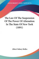 Suspension Of The Power Of Alienation and Postponement of Vesting Under the Law of State Of New York (1891)