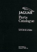 Jaguar XJ-S 3.6 and 5.3 Parts Catalogue Jan 1987 on RTC 9900CA