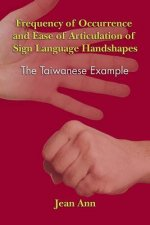 Frequency of Occurrence and Ease of Articulation of Sign Language Handshapes