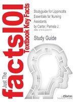 Studyguide for Lippincotts Essentials for Nursing Assistants by Carter, Pamela J., ISBN 9781605470023