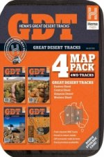 Australia Great Desert Tracks + Outback Adventure Map