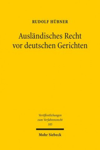 Ausländisches Recht vor deutschen Gerichten