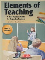 Elements of Teaching -- Master Version