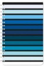BLUE STRIPES A5 NOTEBOOK